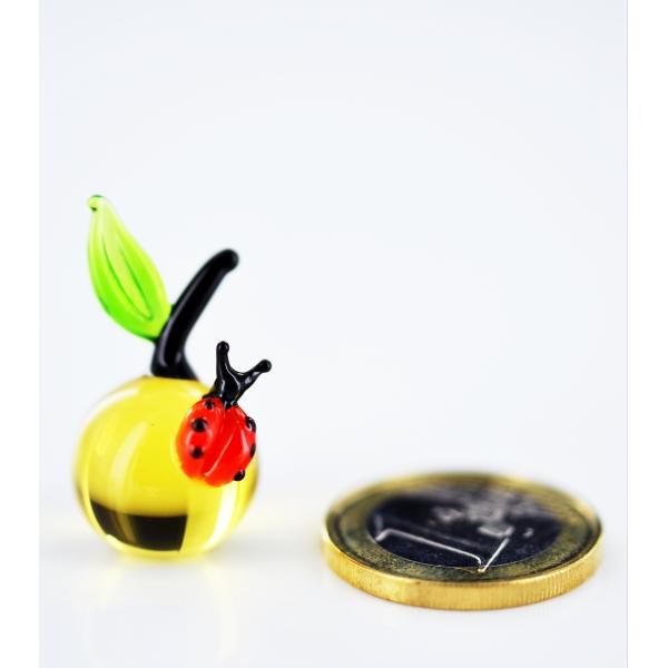 Apfel mit Marienkäfer_1 mini - Glastier