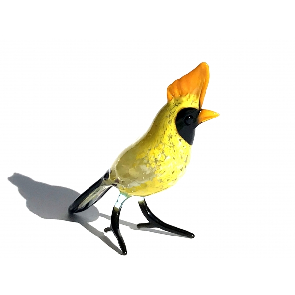 Wiedehopf Gelb Orange - Vogel Figur aus Gals b7-58-3