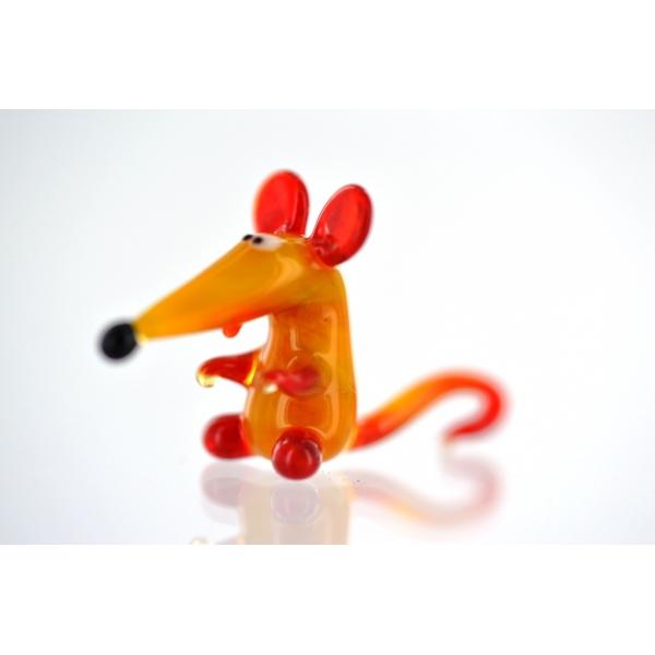 Maus mini - rot -gelb
