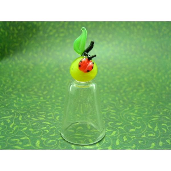 Fingerhut aus Glas-Apfel mit marienkäfer