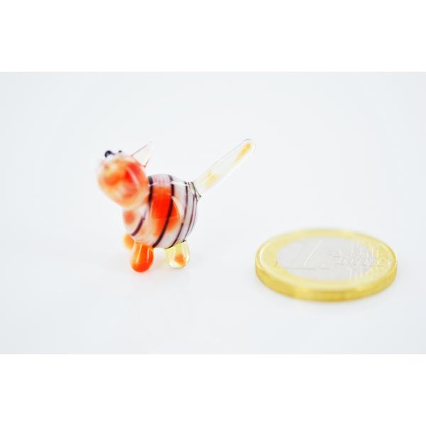 Roter Tiger Mini - Miniatur Glasfigur Katze - Glastier