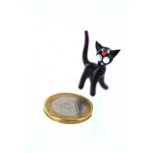 Katze schwarz mini 1-1 - Glastier