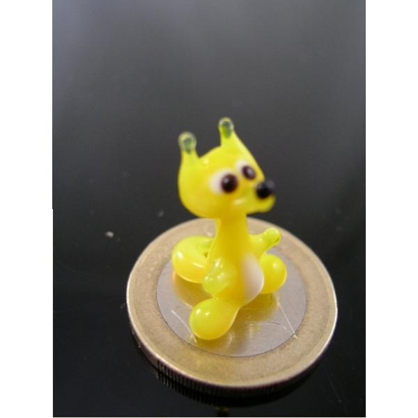 Fuchs mini Gelb - Miniatur Figur aus Glas gelber Fuchs - Deko