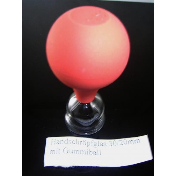 Handschröpfglas mit Gummiball-30mm/20mm-Schröpfgläser