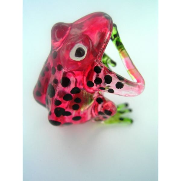 Frosch - Frog -Glasfigur-Glastier-T-02-rot