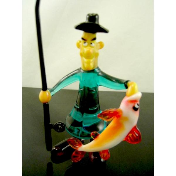 Angler-Glasskulptur-Glasfigur-b8-16-1