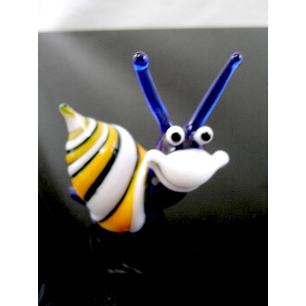Schneke -Snail-Glasfigur