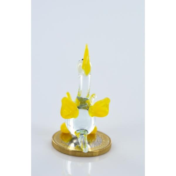 Drache mini gelb 2 - Glastier