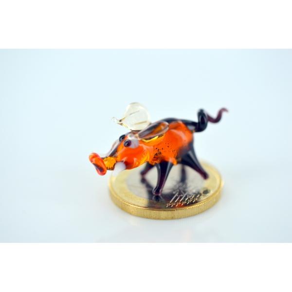 Wildschwein mini - Glasfigur-Glastier-k-4