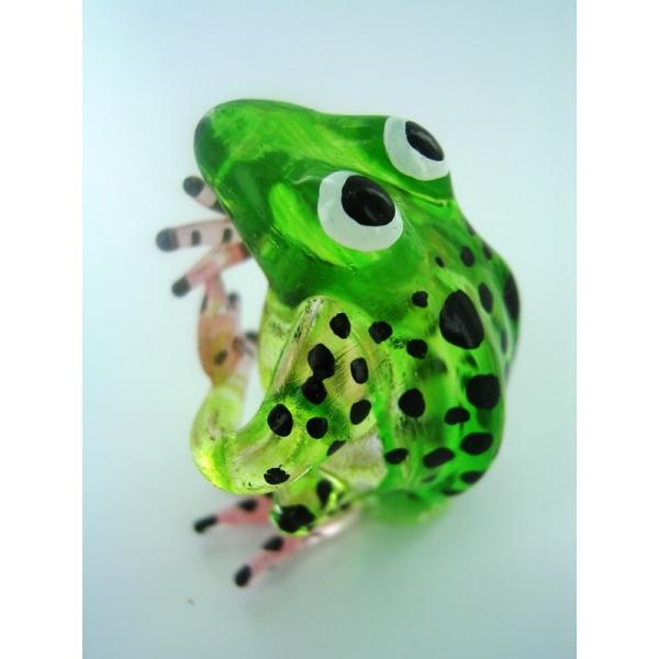 Frosch - Frog -Glasfigur-Glastier-T-02 gr