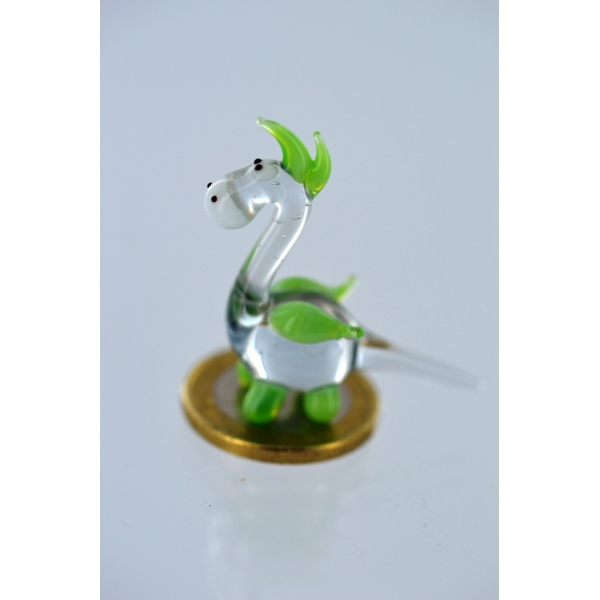 Drache mini grün -Glasfigur-Glasminiatur-k-5