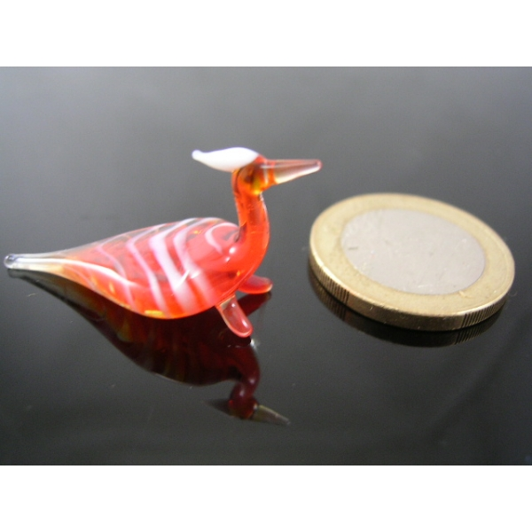 Pfau rot mini-Glastier-Glassfigur-Glassfiguren-k-3