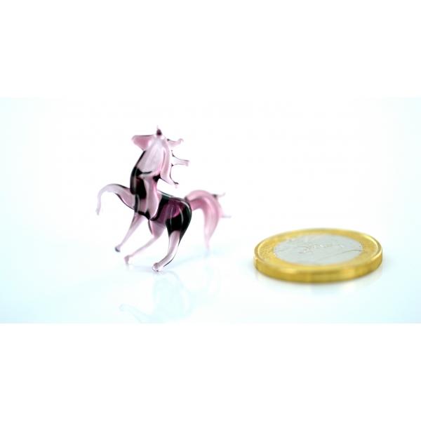 Pferd mini 8 - Violett - Glastier