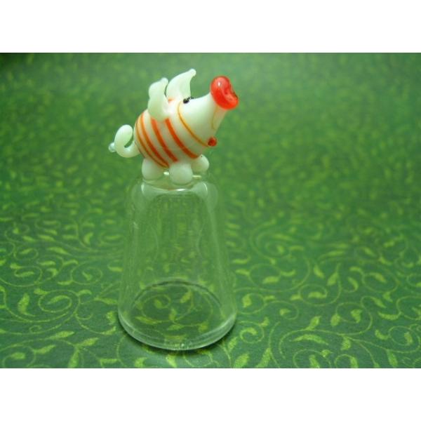 Fingerhut aus Glas-Schwein