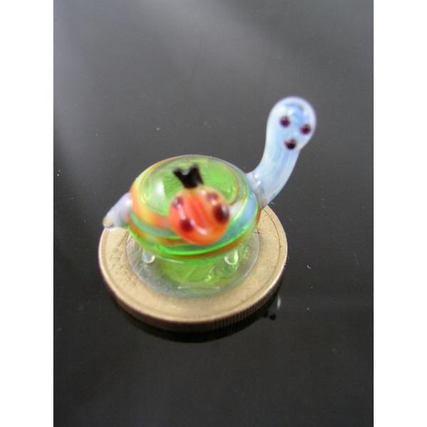 Schildkröte mit Marienkäfer mini 2 - Glastier-k-8