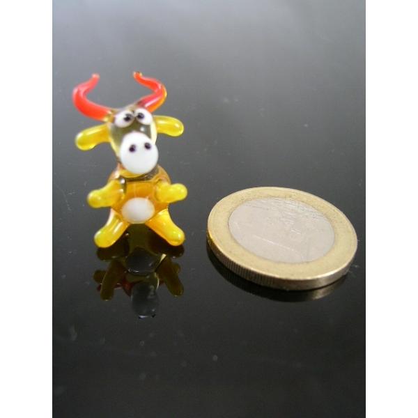 Kuh mini gelb 1 -Glasfigur-Glasminiatur-k-5