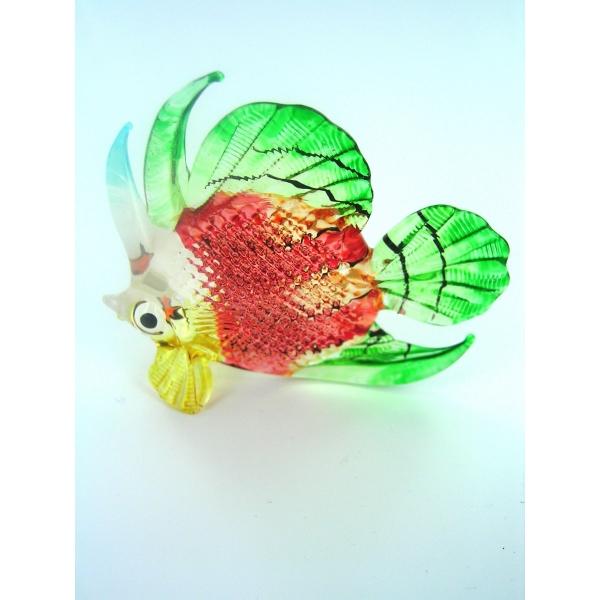 Fisch-Bunter Glasfisch-Glasfigur-Glastier-T-111-Groß-rot