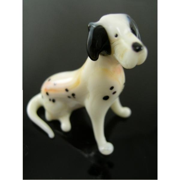 Hund-Dog-Rassenhund -Dalmatiner Glasfigur 14-2