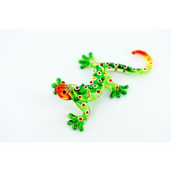 Gecko - Glasfigur Glastier - gr