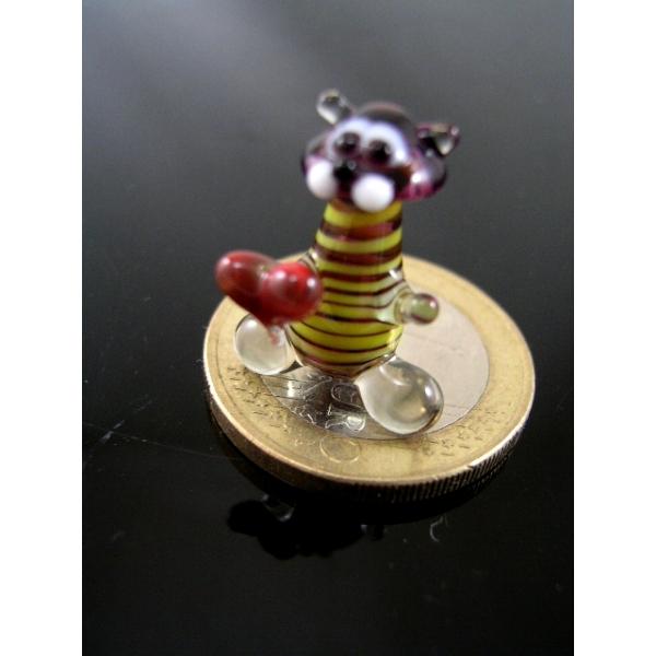 Tiger mit Herz mini-Glastier-Glasfigur-k-9