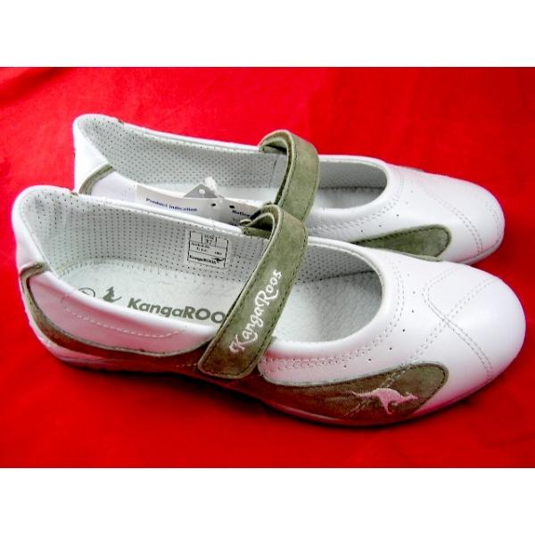 Kangaroos Ballerina-Gr.37-Leder -Wei