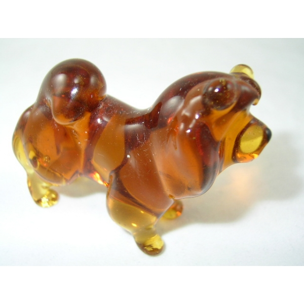 Hund-Dog-Chow-Chow Glasfigur-13-2