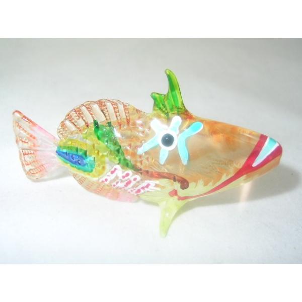 Bunter Glasfisch - Glasfigur- Glastier - y86