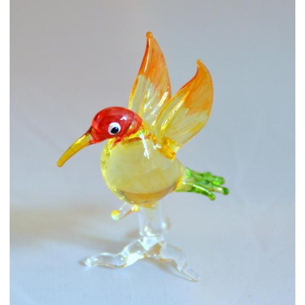 Vogel auf Ast gold/rot