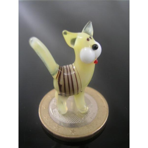 Katze mini gelb-schwarz 3-Glasfigur-k-6