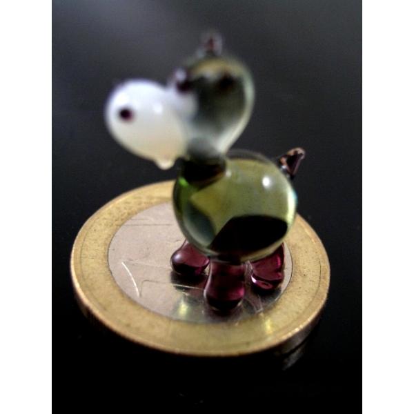 Flusspferd 1-Nilpferd mini -Glastier-k-9