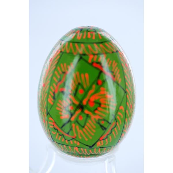 Osterei aus Holz - Pysanka - dunkel grün