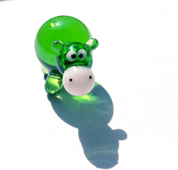 Flusspferd mini -Glasfigur -k-7-Nilpferd