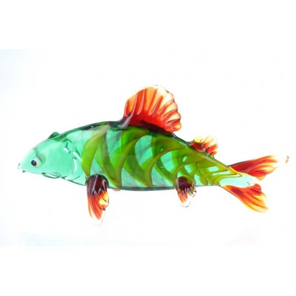 Flussbarsch- Barsch -Fisch-Glasfigur