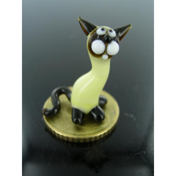 Katze mini 8-Glasfigur- k-2