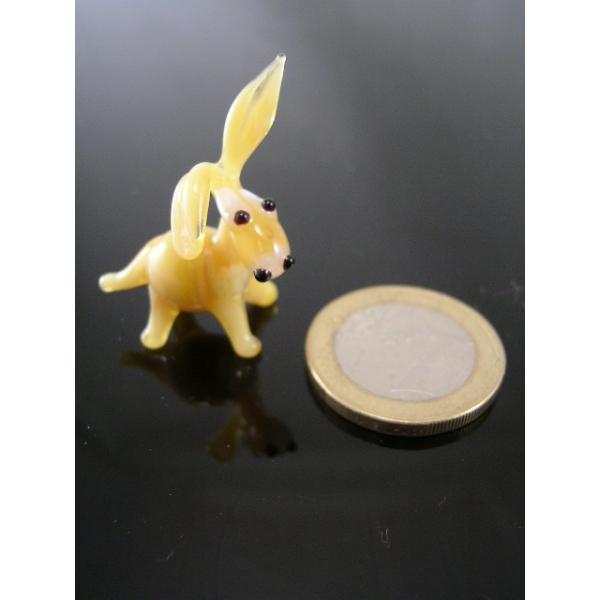 Esel mini beige -Glasfigur-k-6