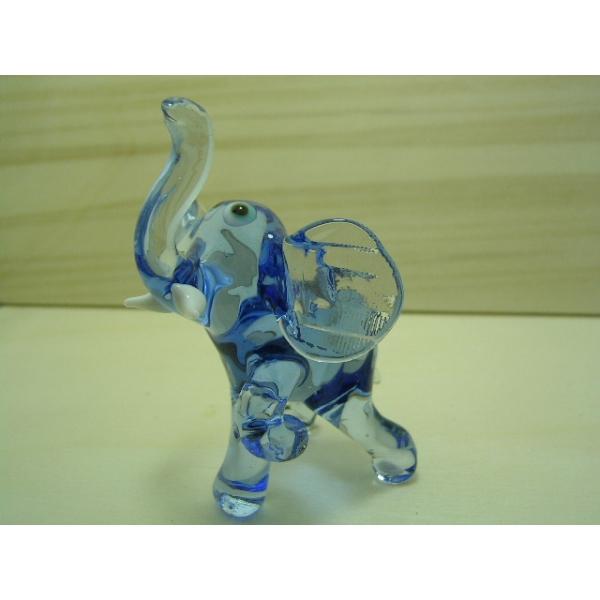 Blau elefant - Glastier