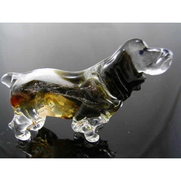 Hund-Dog-English Springer Spaniel aus Glas-38-2